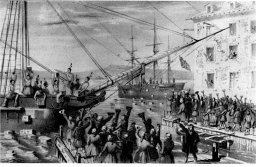 Comprar té de contrabando, reacción social inglesa a las altas cargas impositivas